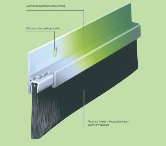 Cepillos para puertas correderas materiales de - Burlete puerta corredera ...